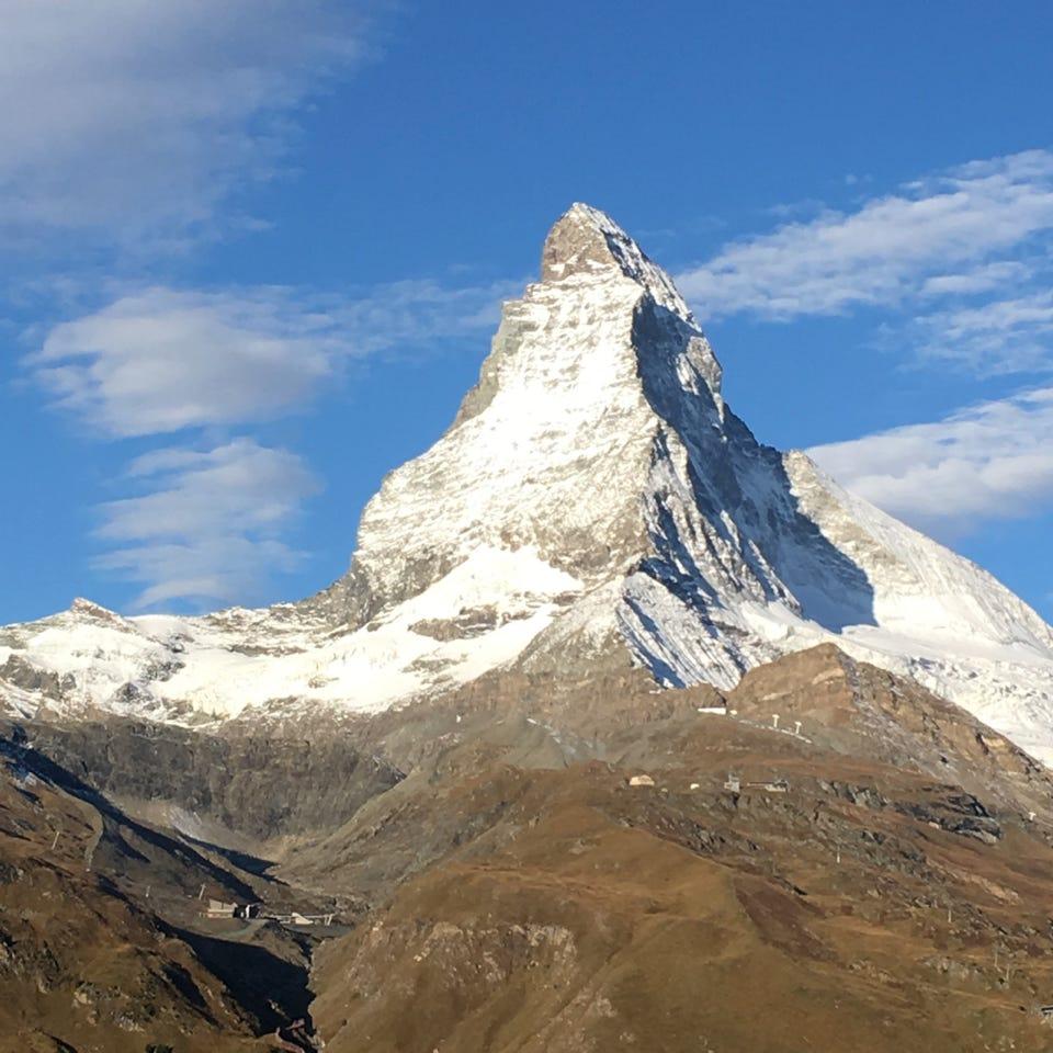 Matterhorn in Zermatt Switzerland. The Riffelalp is my second favorite resort in the world. A must-see in Europe.