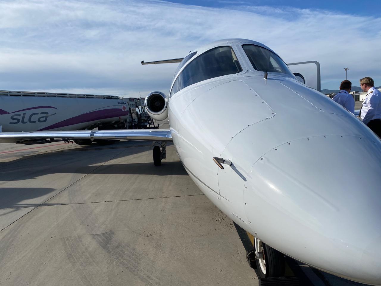 Charter Jet from Barcelona to Zurich OKJFA