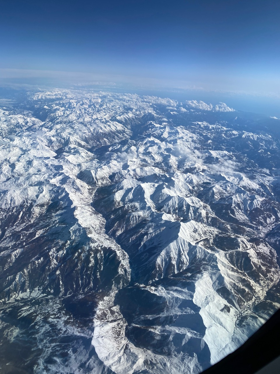 Private Jet Charter Flying Above the Swiss Alps