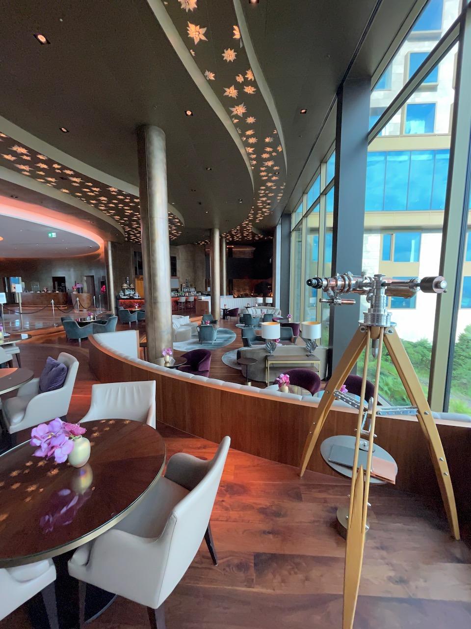 Burgenstock Lounge overlooking Lake Lucerne