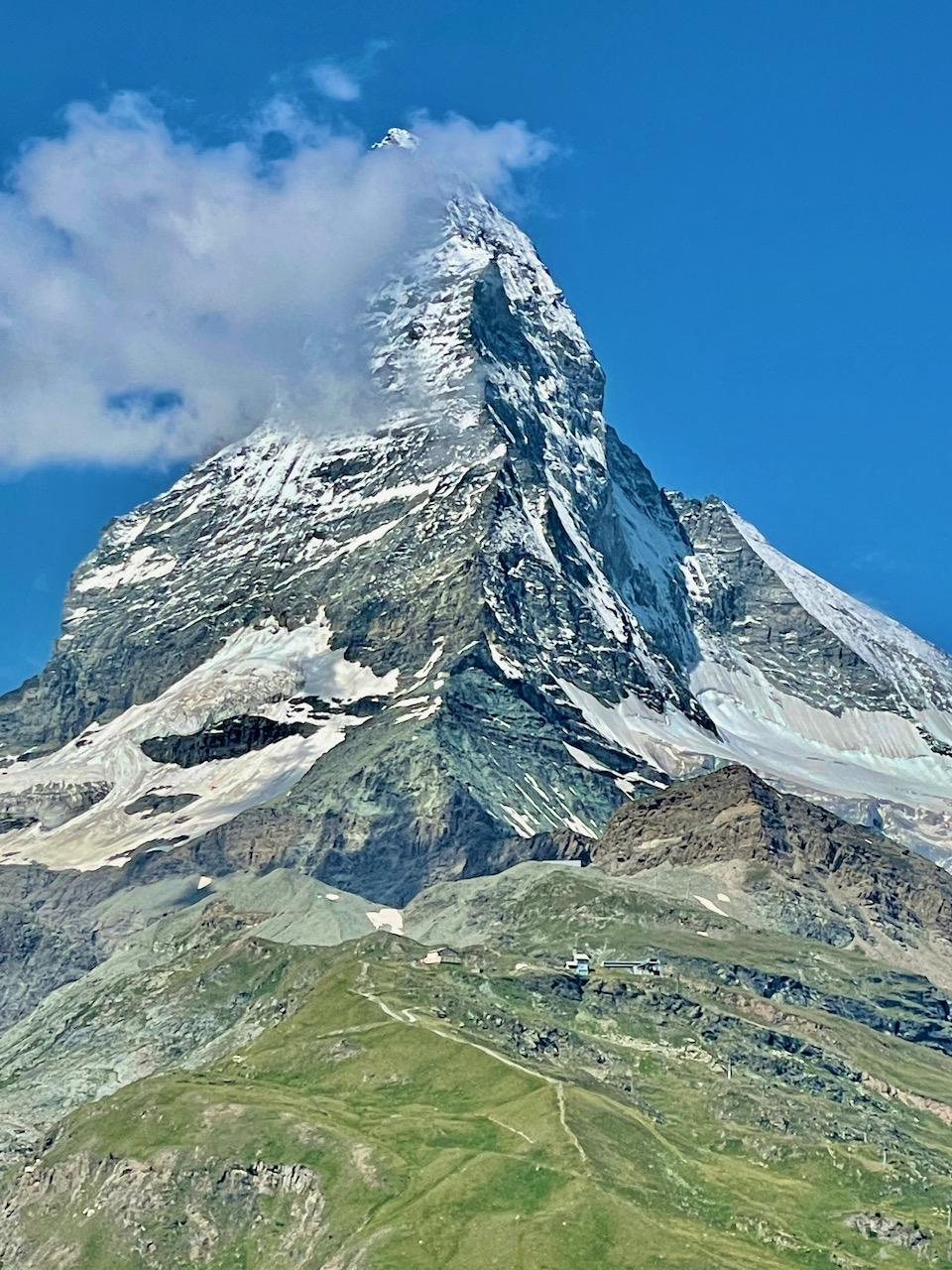 Matterhorn above Zermatt from the Riffelalp Resort 2222