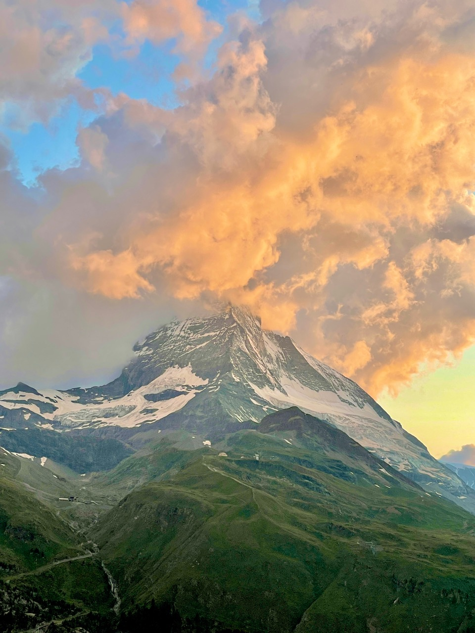 July 2021 Sunset from the Riffelalp Resort