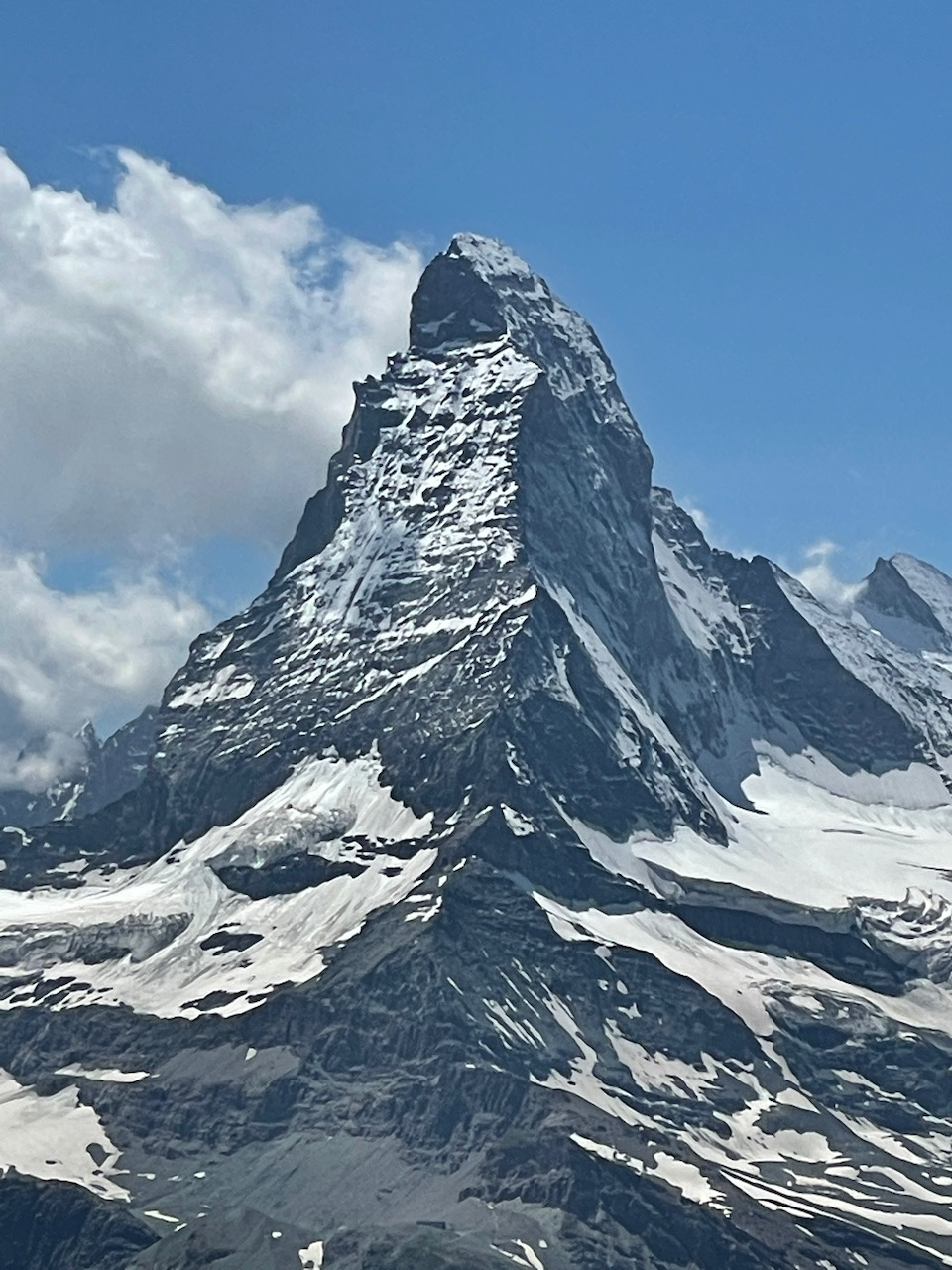 At the top of the Gornergrat looking at the Matterhorn