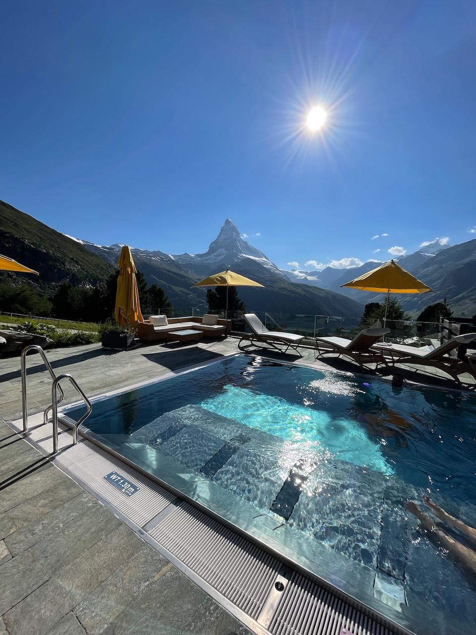 Riffelalp Resort Outdoor Jacuzzi Pool