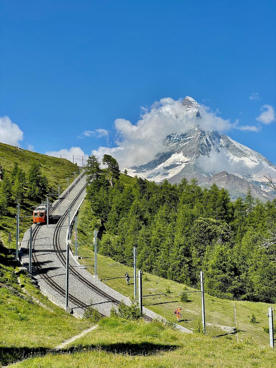 Train and the Matterhorn