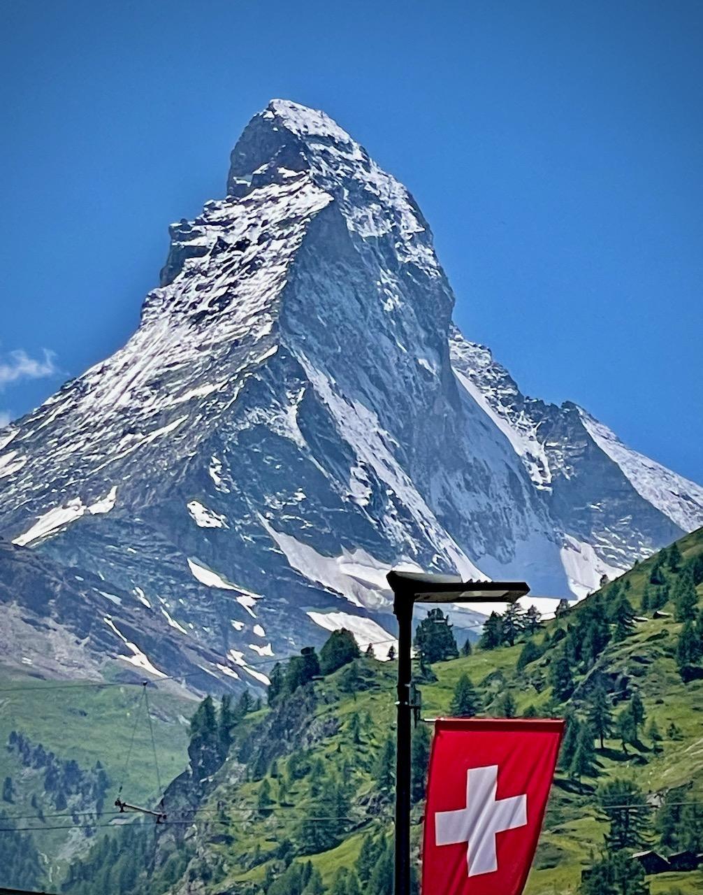 Looking at the Matterhorn from Zermatt