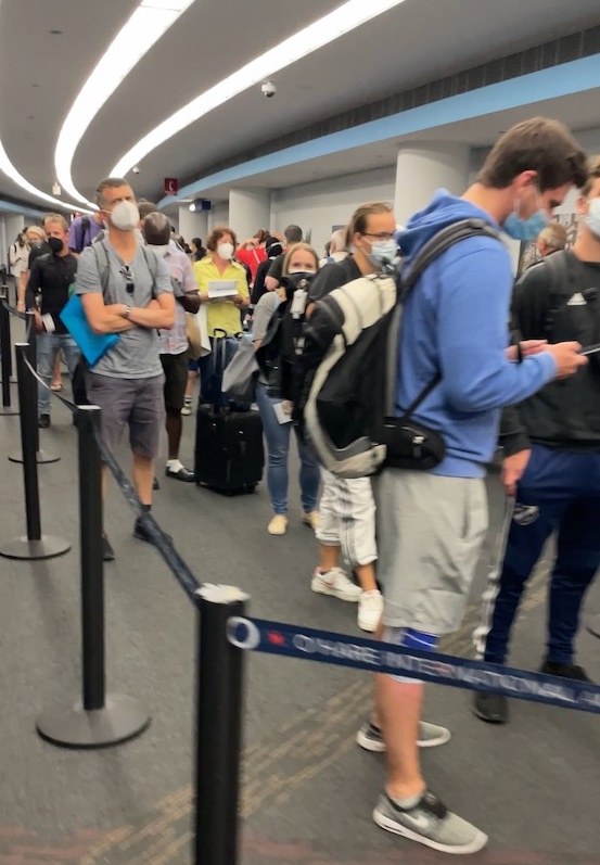 Long wait times were experienced by many on Monday July 26 at Chicago Ohare airport