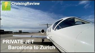 Barcelona to Zurich via private jet
